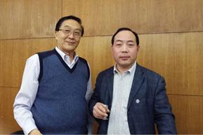 保健协会理事长张凤楼与公司领导